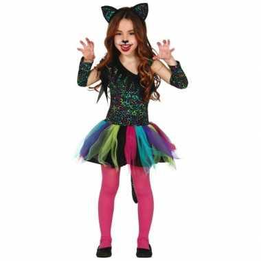 Gekleurd tijgerprint kostuum voor meisjes