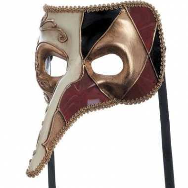 Gekleurd venetiaans joker masker