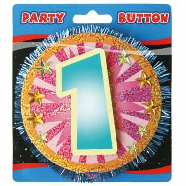 Gekleurde 1 jaar button