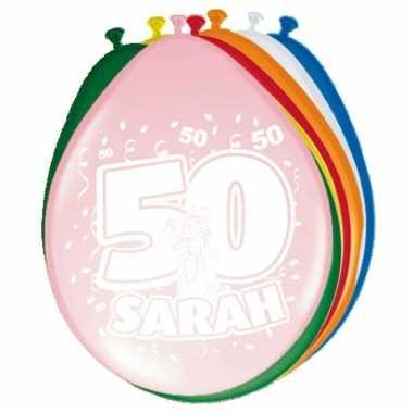 Gekleurde ballonnen 50 jaar