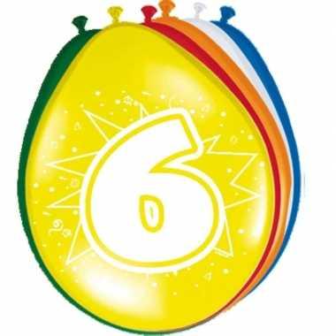Gekleurde ballonnen 6 jaar