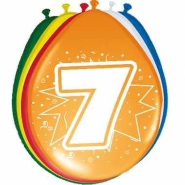 Gekleurde ballonnen 7 jaar