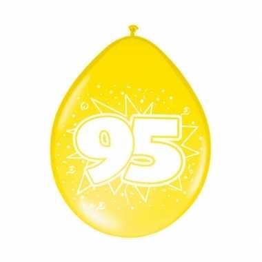 Gekleurde ballonnen 95 jaar 8 stuks