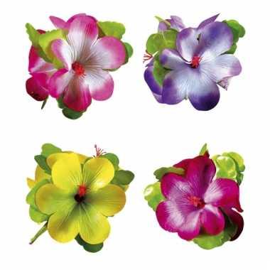 Gekleurde bloemen haarclip