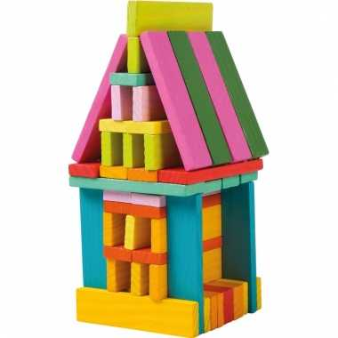 Gekleurde bouwblokken voor meisjes 75 stuks