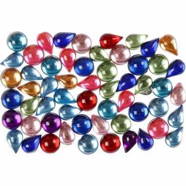 Gekleurde diamanten stenen rond 15 gram