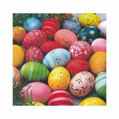 Gekleurde eieren servet 20 stuks
