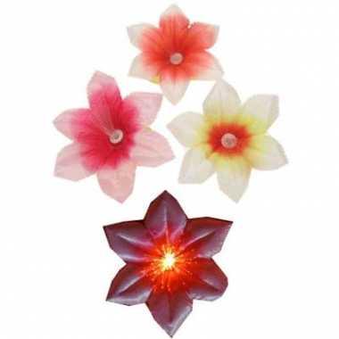 Gekleurde fiber bloemen broches
