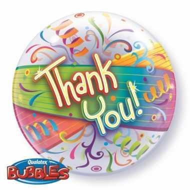 Gekleurde folieballon bedankt
