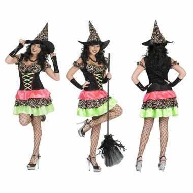 Gekleurde heksenjurk voor dames