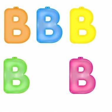 Gekleurde opblaas letters b