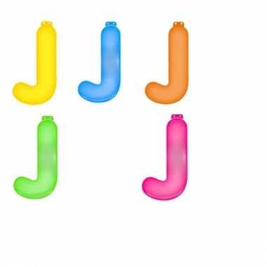 Gekleurde opblaas letters j