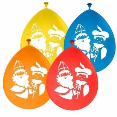 Gekleurde sint en piet ballonnen 8 stuks