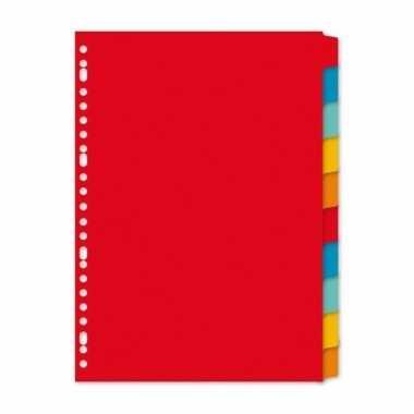 Gekleurde tabbladen a4 met 10 tabs