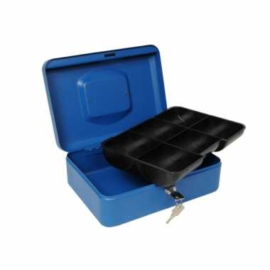 Geldkluis blauw 25 cm
