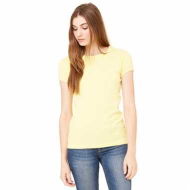 Gele dames t-shirtjes hanna ronde hals