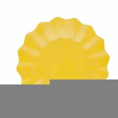 Gele diepe barbecue borden 27 cm