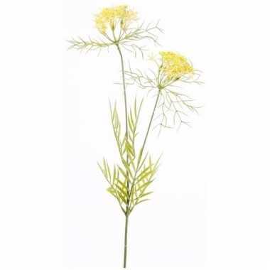Gele dill kunstbloem 72 cm