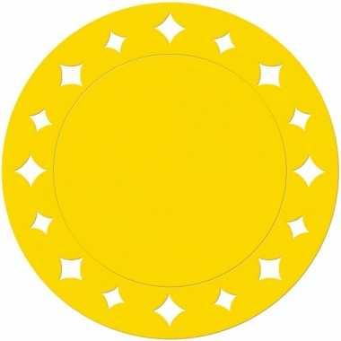 Gele kartonnen placemats 33 cm