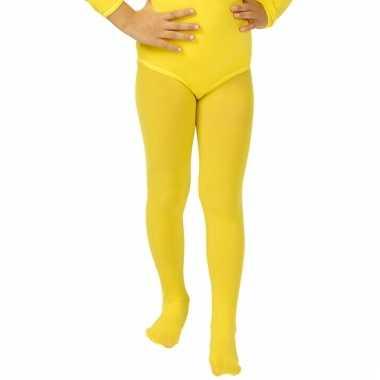 Gele meisjes maillot