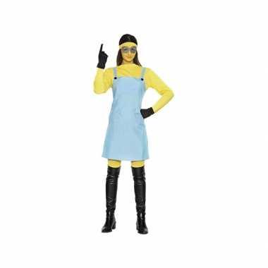 Gele mini dames kostuum