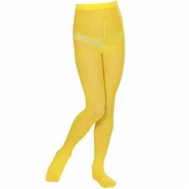Gele panty voor meisjes 40 denier