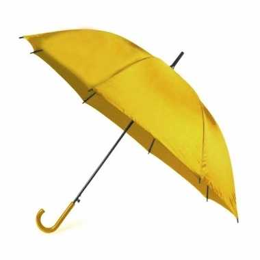 Gele paraplu 107 cm polyester/kunststof