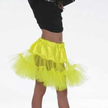 Gele petticoat onderrok voor meiden