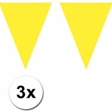 Gele vlaggenlijnen 3 x