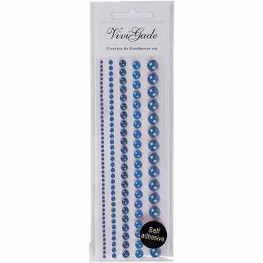 Gezicht juwelen blauwe parels 140 stuks