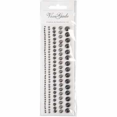 Gezicht juwelen zwarte parels 140 stuks