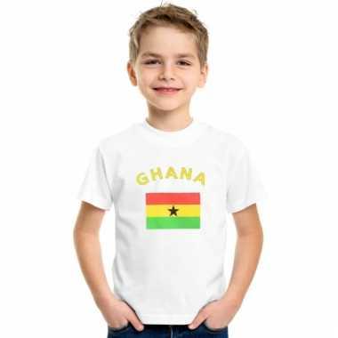 Ghanees vlaggen t-shirt voor kinderen