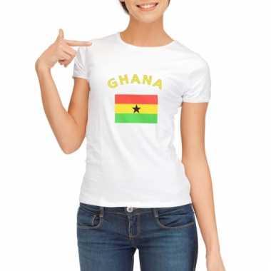 Ghanese vlaggen t-shirt voor dames