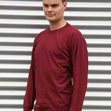 Gildan t-shirt lange mouwen bordeaux