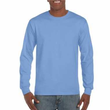 Gildan t-shirt lange mouwen carolina blauw