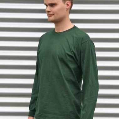 Gildan t-shirt lange mouwen donkergroen