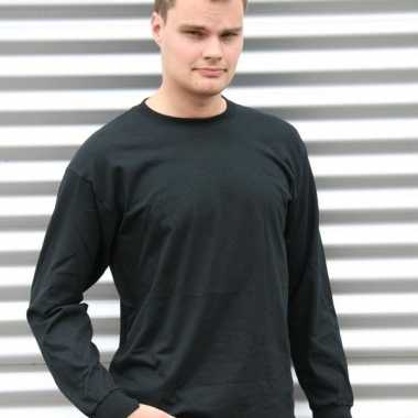 Gildan t-shirt lange mouwen zwart