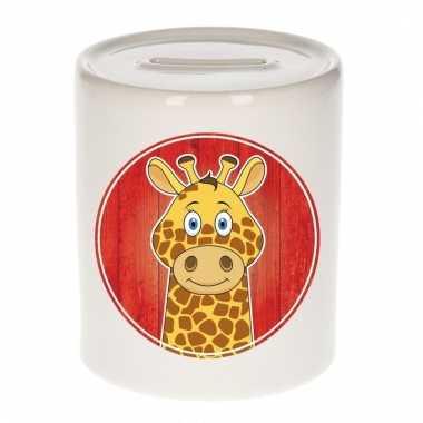 Giraf spaarpot van keramiek 9 cm