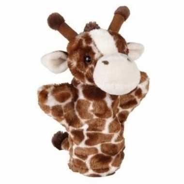 Giraffe handpoppen pluche 24 cm