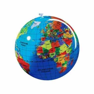 Glanzende wereldbol voor kids 30 cm
