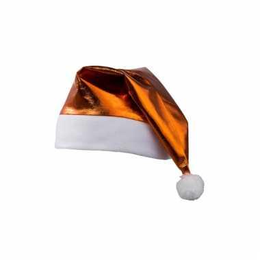 Glimmende kerstmutsen oranje