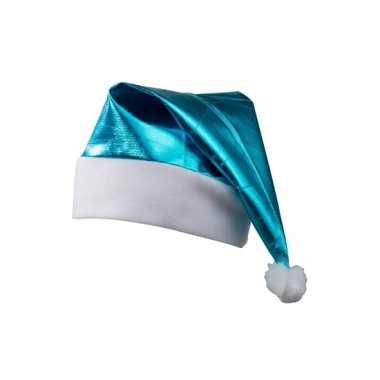 Glimmende kerstmutsen turquoise
