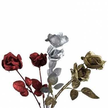 Glitter rozen 2 stuks