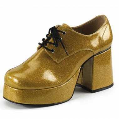 Glitterschoenen goud heren
