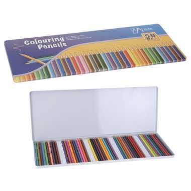 Goede potloden in metalen box