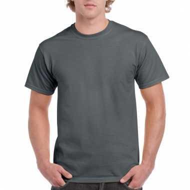 Goedkope gekleurde shirts antraciet voor volwassenen