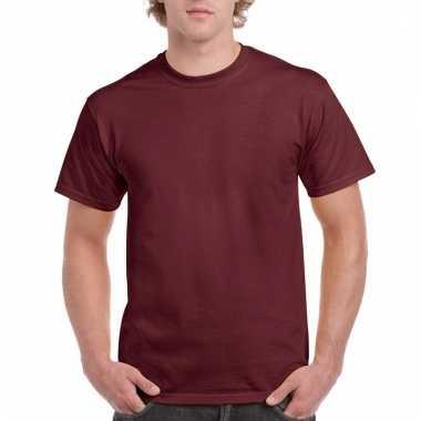 Goedkope gekleurde shirts bordeaux maroonrood voor volwassenen