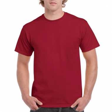 Goedkope gekleurde shirts donker kardinaalrood voor volwassenen