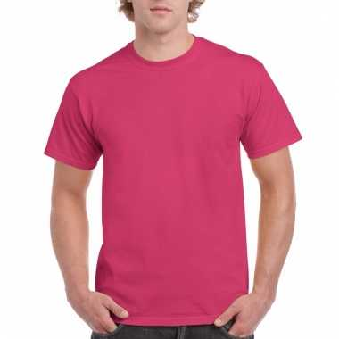 Goedkope gekleurde shirts fuchsia roze voor volwassenen