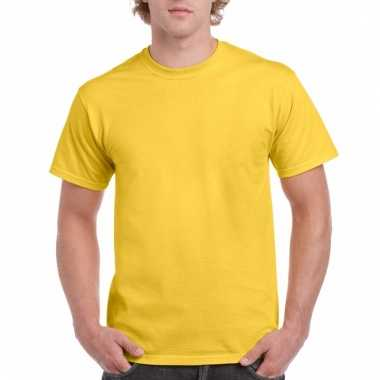 Goedkope gekleurde shirts geel voor volwassenen